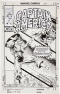 Original Comic Art:Covers, Rik Levins and Danny Bulanadi Captain America #409 CoverOriginal Art (Marvel, 1992)....