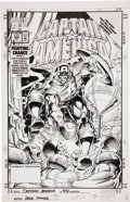Original Comic Art:Covers, Dave Hoover Captain America #432 Cover Original Art (Marvel,1994)....