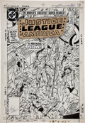 Original Comic Art:Covers, Chuck Patton and Dick Giordano Justice League of America #229 Cover Original Art (DC, 1984)....