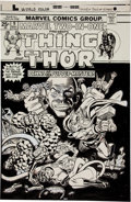 Original Comic Art:Covers, Gil Kane and Frank Giacoia Marvel Two-In-One #9 Thing andThor Cover Original Art (Marvel, 1975)....