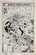 Original Comic Art:Covers, Keith Pollard Thor #308 Cover Original Art (Marvel,1981)....