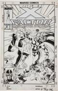 Original Comic Art:Covers, Steve Lightle X-Factor #32 X-Factor vs. the Avengers CoverOriginal Art (Marvel, 1982)....