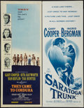 "Movie Posters:War, They Came to Cordura and Others Lot (Columbia, 1959). Inserts (3)(14"" X 36""). War.. ... (Total: 3 Items)"