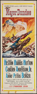 "Movie Posters:Western, Major Dundee (Columbia, 1965). Insert (14"" X 36""). Western.. ..."