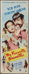 """Movie Posters:Comedy, My Favorite Brunette (Paramount, 1947). Insert (14"""" X 36"""").Comedy.. ..."""