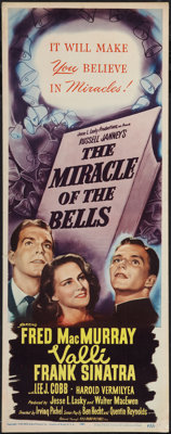 "The Miracle of the Bells (RKO, 1948). Insert (14"" X 36""). Drama"