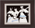 Baseball Collectibles:Photos, Ted Williams, Mickey Mantle and Joe DiMaggio Multi Signed OversizedPhotograph....