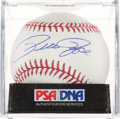 Baseball Collectibles:Balls, Pete Rose Single Signed Baseball PSA Mint+ 9.5. ...