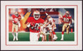 Miscellaneous Collectibles:General, 1993 NBA Draft Picks Multi Signed Sheets and Jerry Rice SignedLithograph....