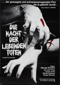 """Night of the Living Dead (Continental, R-1977). German A1 (23"""" X 33""""). Horror"""