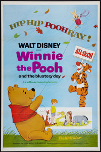 """Winnie the Pooh and the Blustery Day (Buena Vista, 1969). One Sheet (27"""" X 41""""). Flat Folded. Animated"""