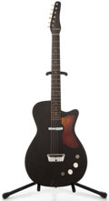 Musical Instruments:Electric Guitars, 1960's Silvertone U-1 Black Solid Body Electric Guitar, No SerialNumber....