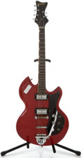 Musical Instruments:Electric Guitars, 1960's Gretsch Astro-Jet Red Solid Body Electric Guitar, Serial Number #55381....