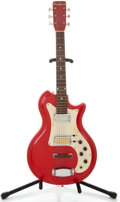 Musical Instruments:Electric Guitars, 1960 Airline Res-O-Glas Red Solid Body Electric Guitar, Serial Number #1-39615....