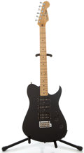 Musical Instruments:Electric Guitars, 1980's Fender Squire Bullet Black Solid Body Electric Guitar, Serial Number #E500645....