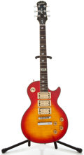 Musical Instruments:Electric Guitars, Recent Epiphone Ace Frehley Les Paul Cherryburst Solid BodyElectric Guitar, Serial Number #I00060373....