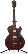 Musical Instruments:Electric Guitars, 1964 Guild Starfire III Cherry Semi-Hollow Body Electric Guitar,Serial Number #35700....
