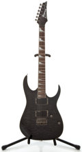 Musical Instruments:Electric Guitars, Ibanez RG3EX1 Trans Black Solid Body Electric Guitar, Serial Number#050629455....