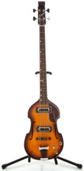 Musical Instruments:Bass Guitars, 1960's Conrad Violin Sunburst Electric Bass Guitar, Serial Number #2295621....