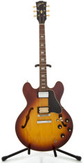 Musical Instruments:Electric Guitars, 1970 Gibson ES-335 Sunburst Semi-Hollow Body Electric Guitar,Serial Number #912087....