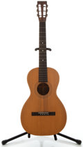 Musical Instruments:Acoustic Guitars, 1900's Washburn Parlor Natural Acoustic Guitar, Serial Number #13608....