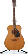 Musical Instruments:Acoustic Guitars, 1970's Yamaha FG-180 Natural Acoustic Guitar, Serial Number #895306....