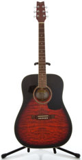 Musical Instruments:Acoustic Guitars, Washburn D10 Redburst Acoustic Guitar, Serial Number #CC0477353....