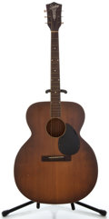Musical Instruments:Acoustic Guitars, 1950's Silvertone Model Jumbo Sunburst Acoustic Guitar, No SerialNumber....