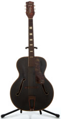 Musical Instruments:Acoustic Guitars, 1950's S. S. Stewart Project Black Archtop Acoustic Guitar, NoSerial Number....