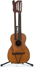 Musical Instruments:Acoustic Guitars, Early 1900's Bruno Harp Project Natural Acoustic Guitar, Serial Number #1901....