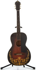 Musical Instruments:Acoustic Guitars, 1930's Oahu Squareneck Sunburst Acoustic Guitar, No Serial Number....