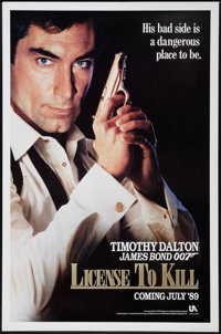 "Licence to Kill (United Artists, 1989). One Sheet (27"" X 41"") Advance, US Spelling Style. James Bond"