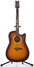 Musical Instruments:Acoustic Guitars, Dean Tucson Sunburst Acoustic Electric Guitar, Serial Number#04038831....