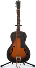Musical Instruments:Acoustic Guitars, 1930's Kalamazoo KG Sunburst Archtop Acoustic Guitar, No SerialNumber....