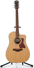 Musical Instruments:Acoustic Guitars, 2008 Taylor 210CE Natural Acoustic Electric Guitar, Serial Number#2008011213....