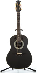 Musical Instruments:Acoustic Guitars, Ovation Legend Black Acoustic Electric Guitar, Serial Number#313783....