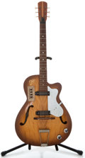 Musical Instruments:Electric Guitars, 1960's EKO 100 Sunburst Archtop Electric Guitar, Serial Number#173423....