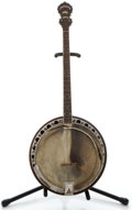 Musical Instruments:Banjos, Mandolins, & Ukes, 1900's Paramount Style 1 Mod Maple Tenor Banjo, Serial Number #12251....