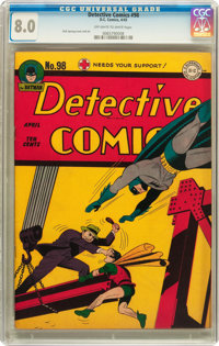 Detective Comics #98 (DC, 1945) CGC VF 8.0 Off-white to white pages