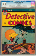 Golden Age (1938-1955):Superhero, Detective Comics #48 (DC, 1941) CGC FN- 5.5 Off-white pages....