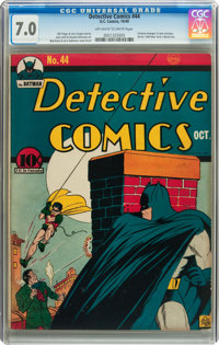 Detective Comics #44 (DC, 1940) CGC FN/VF 7.0 Off-white to white pages
