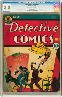 Detective Comics #39 (DC, 1940) CGC GD/VG 3.0 Cream to off-white pages
