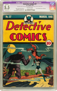 Detective Comics #37 (DC, 1940) CGC Apparent FN- 5.5 Extensive (P) Off-white pages