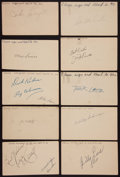 Baseball Collectibles:Others, Baseball Stars Signed Government Postcards Lot of 27....
