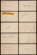 Baseball Collectibles:Others, Baseball Stars Signed Government Postcards Lot of 23....