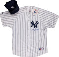 Baseball Collectibles:Uniforms, Phil Rizzuto Signed Jersey and Cap....