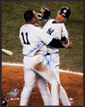 Baseball Collectibles:Photos, Alex Rodriguez and Gary Sheffield Multi Signed Oversized Photograph - Championship Photo....