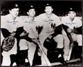 Baseball Collectibles:Photos, New York Yankees Legends Multi Signed Oversized Photograph....