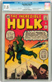 The Incredible Hulk #3 (Marvel, 1962) CGC VF- 7.5 Off-white pages