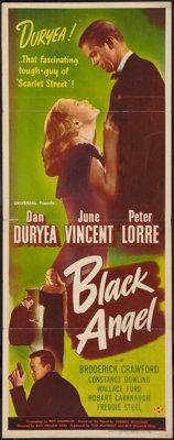 "The Black Angel (Universal, 1946). Insert (14"" X 36""). Film Noir"